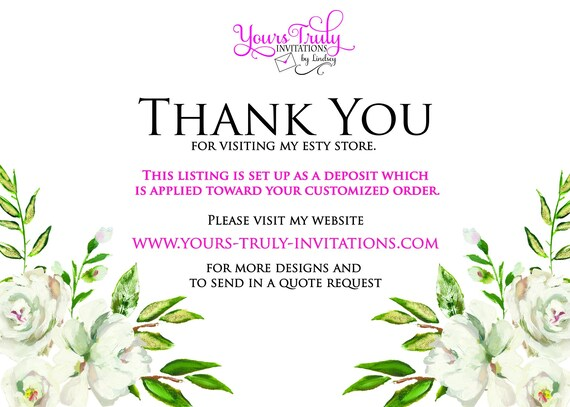 custom design bespoke Custom Clear Acrylic Wedding Or Party Invitation with Gold Foil Stamping in your colors Deposit