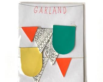3' Girlande handgefertigte doppelseitige Flag Bunting / / fertig zum Aufhängen-Wand-Dekor / Kindergarten, Wohnheim, Akzent, Kinder Zimmer Wand-Kunst, Baby-Geschenk