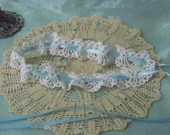 Braut etwas blau, Bridal Strumpfband, Strumpfband, Spitze Strumpfband, häkeln Strumpfband, Hand häkeln Strumpfband, weiß Strumpfband, sofort lieferbar
