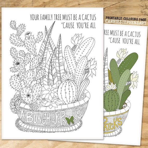 Funny Quote Coloring Page Instant Download Printable Bunch