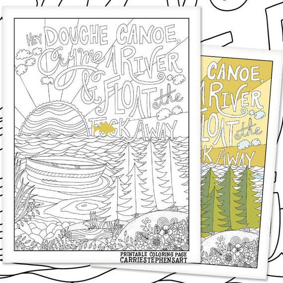 Douche Canoe Printable Coloring Page Breakup Gift Adult