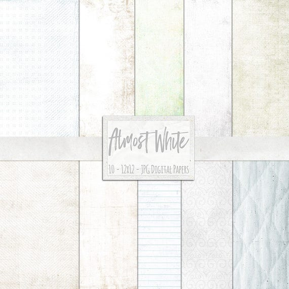 Basic White Digital Papers Off Lightly Textured