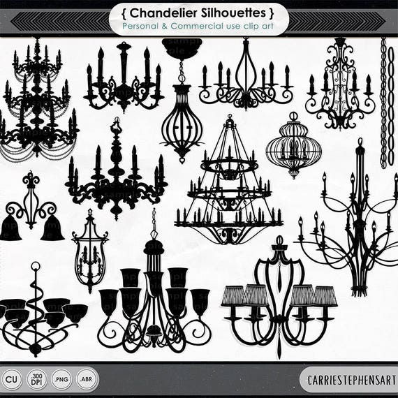 Chandelier clip art png silhouettes photoshop brushes aloadofball Images