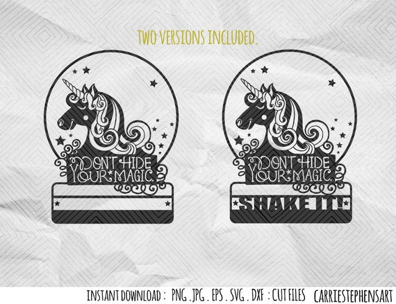Unicorn Dance Svg File Cut File For Vinyl Cutter Silhouette Cricut Png Dxf Jpg Png Instant Download Shake It Magical Snow Globe By Carriestephensart Catch My Party