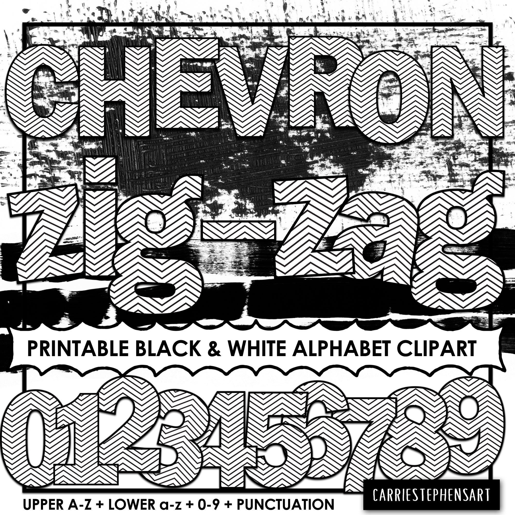 photo relating to Printable Bulletin Board Letters identify Chevron PRINTABLE Alphabet ClipArt, Faculty Bulletin Board