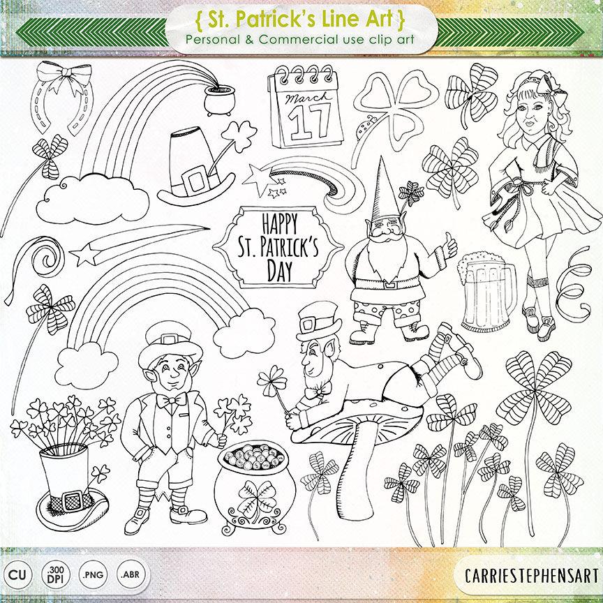 St Patrick\'s Day Digital Stamp Printable Irish | Etsy