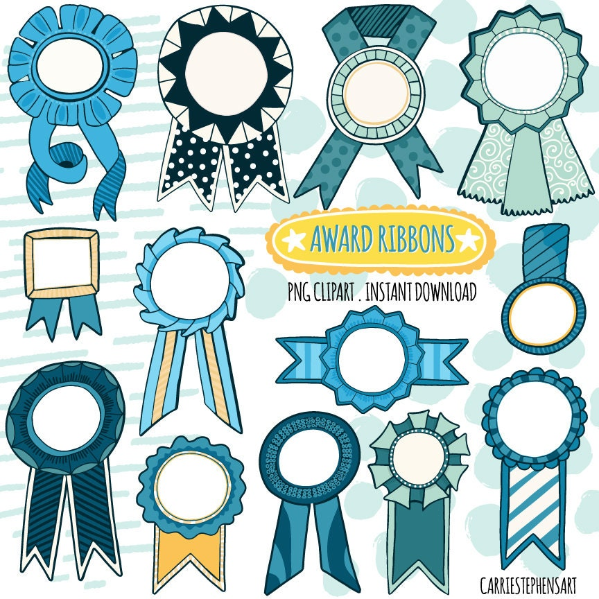 picture regarding Printable Award Ribbons named Blue Award Ribbon ClipArt Graphics, Fast Down load Champion