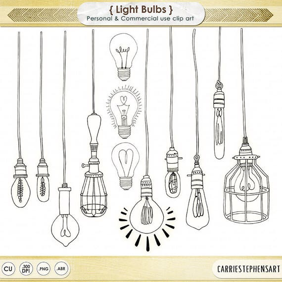 Light Bulb ClipArt PNG, String Light Digital Graphics, Royalty Free