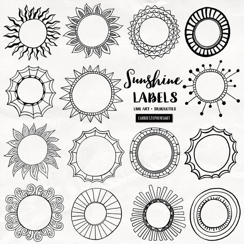 Sunshine Labels Circle Border Clipart Round Border Graphics