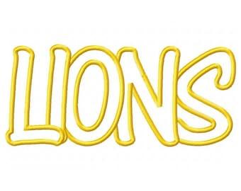 Instant Download Lions Embroidery Machine Applique Design-579