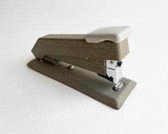 Vintage Industrial Metal Bostitch Model B5B Heavy Duty Desktop Stapler