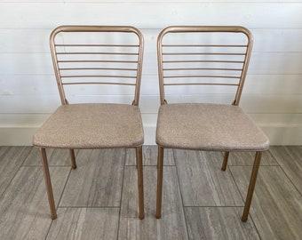SET of 2 Vintage Hamilton Cosco Gatefold Metal Folding Chair - 1960's
