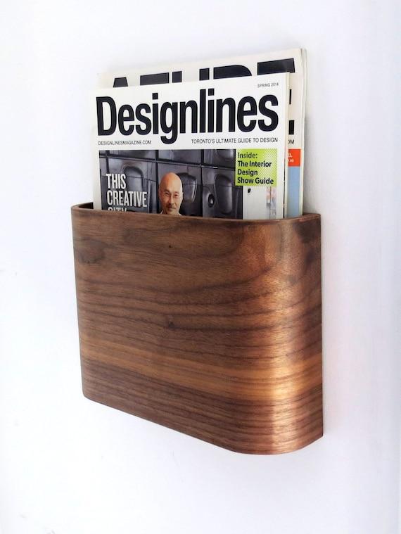 Zeitungsstander Wand Aufgehangt Holz Magazinhalter Etsy