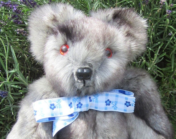 Silver Plush Teddy Bears Grey Bear Adult Stress Busters Faux Fur Collectible Bear Toys Autism Stress Reliever Toys Cuddly Bedroom Ornaments