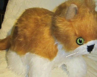 Ginger Cat Toy Ornament Marmalade Cat Toy Ornamental Toy Fluffy Cat Toy Companion Cat Decorative Animal Present Collectible Bedroom Ornament