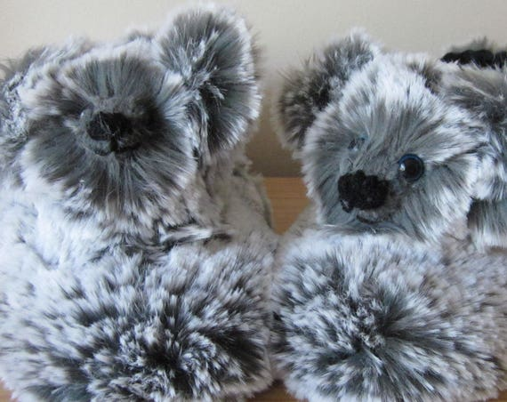 Koala Bear Made to Measure Novelty Gift for All Ages Surprise Fathers Day Present Unisex Novelty Slippers for All Ages Warm Plush Footwear