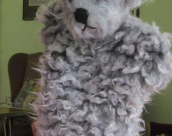 Grey Cat Arm Puppet Grey Plush Cat Puppet Plush Activity Toy Grey Plush Toddler Toy Fluffy Hand Puppet Any Occasion Toy Cuddly Activity Toy