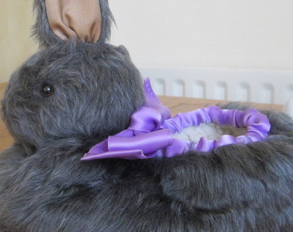 Grey Rabbit Made to Measure Plush Slippers Fun Gift for Dad or Mum Made to Order Family Presents Mothers Day Gift Family Christmas Presents