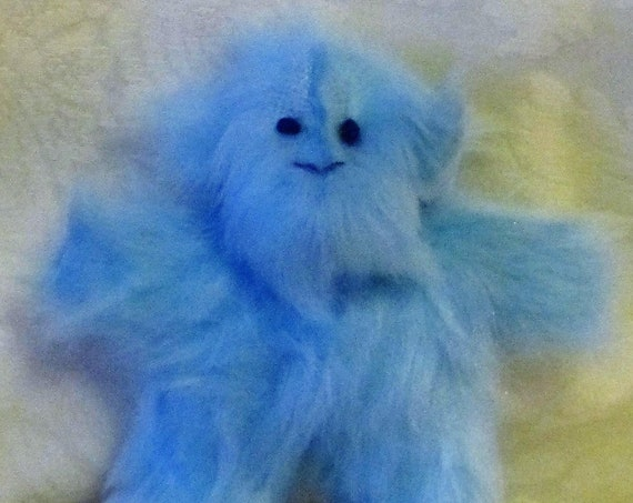 Blue Plush Monkey Toys Baby Monkey Nursery Decor  Hairy Blue Monkeys Shower Basket Fillers Baby Pram/Cot Toys Fun Blue Monkey Toy Presents