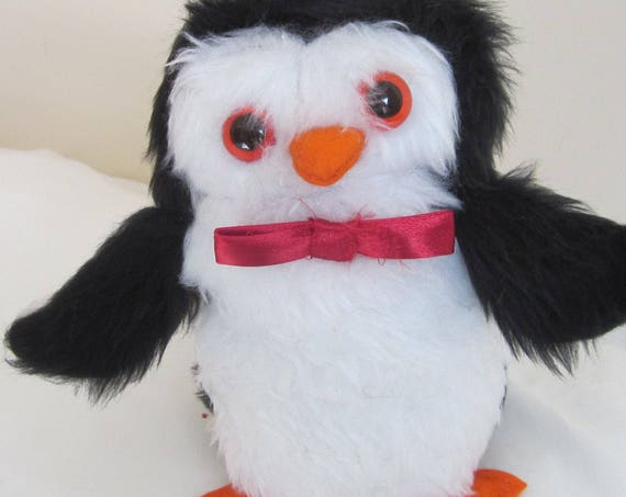 Percy Penguin Stuffed Toy Unusual Bird Ornament Shower Basket Item Toddler Gift Adoption Present Unbreakable Decor Piece Fluffy Toy Gift.
