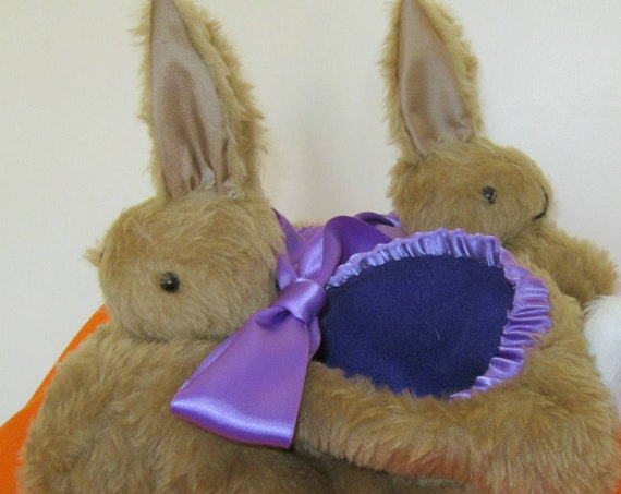 Brown Rabbit Slippers Made to Measure Gifts for Him or Her Made to Order Gift for Dads Unusual Mothers' Day Gifts  Fun Fathers' Day Present