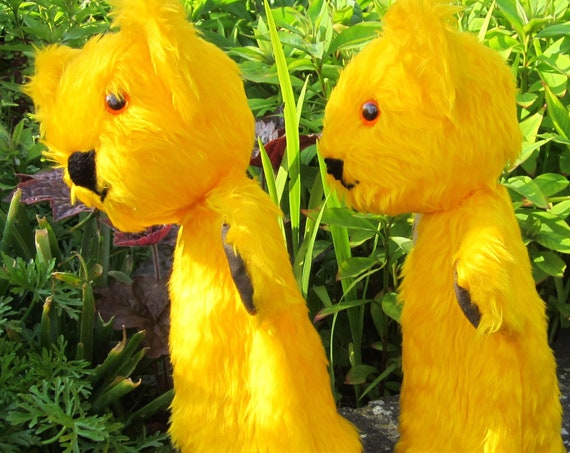 Yellow Bear Puppets Creative Toy Items for Entertaining Children Bear Glove Puppet Activity Toys Universal Therapy Tools Child's Plaything