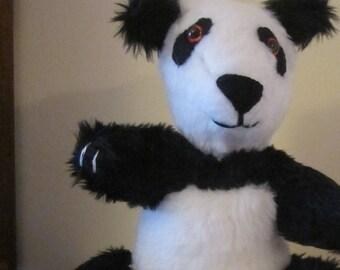 Panda Bear Ornamental Toy Black and White Ornamental Toy Plush Panda Bear Ornament Nursery Ornamental Toy Bedroom Decor Panda Plush Bear