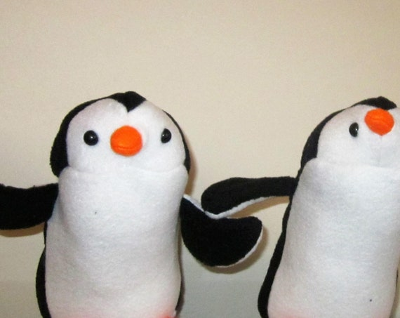 Penguin Fleece Toys Paddy Penguin Black and White Toy Petunia Penguin Ornamental Toy Christening Gifts Adoption Presents Nursery Decorations