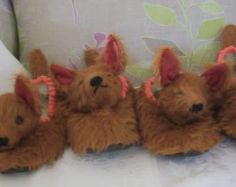 Fox Kid's Slippers Copper Plush Slippers Made to Measure Unusual Toddler Gift Made to Order Tan Plush Kids Slipper Comfy Footwear for Kids
