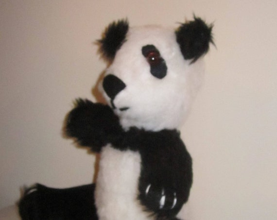 Panda Bear Ornamental Toy Black and White Ornamental Toy Plush Panda Bear Ornament Nursery Decorative Toy Kid's Room Panda Bear Decoration