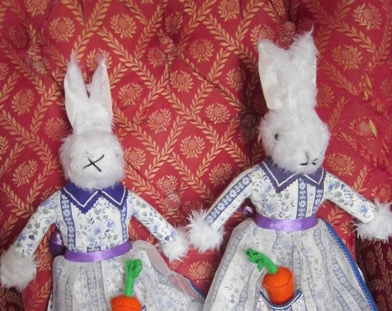 Wanda White Rabbit White Rabbit Toys Dressed Rabbit Toys Ornamental Toy Dressed Traditional Toys Shower Centre Piece White Rabbit Decoration