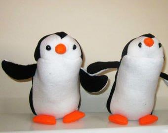 Penguin Fleece Toy Paddy Penguin Black and White Toys Petunia Penguin Ornamental Toy Christening Gift  Adoption Present Nursery Decoration