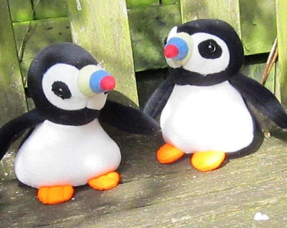 Puffin Stuffed Toy Kids Room Ornament Stuffed Puffin Toy Nursery Decoration Toddlers Best Friend Toy Unusual Christmas Time Ornamental Toy