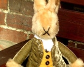 Dressed Rabbit Toy, Uncle Brendan Bunny,  Brown Plush Rabbit, Cool Kids Toy, Toy for Cool Kids, Toddlers Toy, Collectible Traditional Toy.