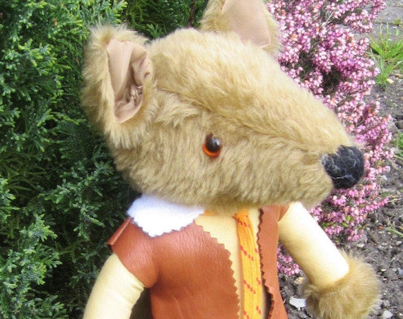 Chuck Coyote Stuffed Toy Coyote Dad Surprise Ornamental Toy Gift Nursery and/or Bedroom Decoration Dressed Coyote Toy Nursery Ornamental Toy