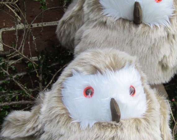 Barn Owl Toy Fluffy Brown Owl Toy Owl Ornament Collector's Ornamental Toys Adoptive Parental Presents Christening Gift Owl Cuddly Child Toy