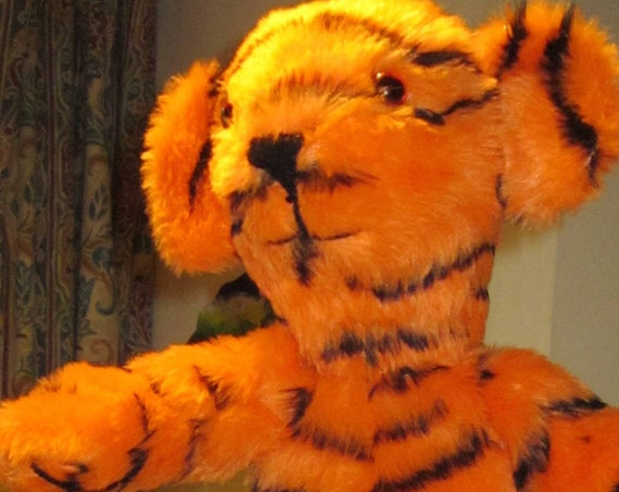 Tiger Arm Puppet Toy Kids Activity Toy Made to Measure Counsellor's Helper Toy Tiger Toy for Toddlers Teacher Aid Teaching Toy Adoption Gift