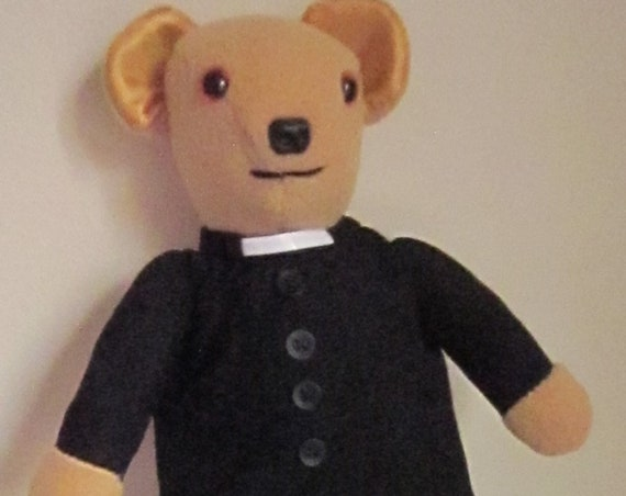 Padre Bear Decorative Ornamental Toy In COLDHAMCUDDLIES Clerical Bear Collection Novelty Collectible Fun Gift for Everyone Bear Fund Raiser