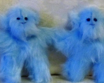 Blue Plush Monkey Ornamental Toy Nursery Decor Item Shower Basket Gift Kids Bedroom Toy Present To  Brother Sister Fun Present Toy Ornament