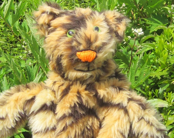 Tiger Puppet Toys Made to Measure Nursery Teacher Aids  Made to Order Tiger Activity Toy Presents Boy or Girl Kids Puppet Fun Toy Presents.