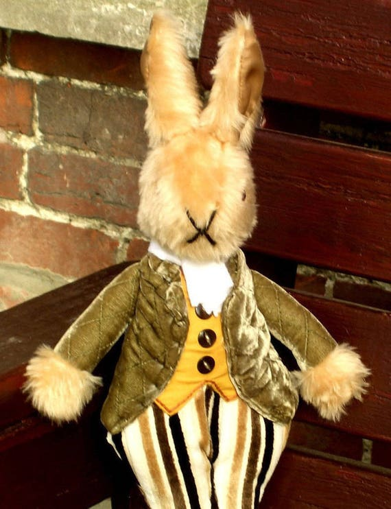Uncle Brendan Bunny Dressed Rabbit Toy Collectible Plush Toy Ornaments Traditional Fun Toys Decorative Toy Item Unbreakable Toy For All Ages