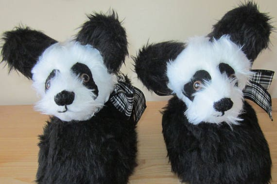 Panda Head Slippers Made to Measure Black and White Slippers Made to Order Footwear Gift for Wife Gift for All Family Members All Year Round