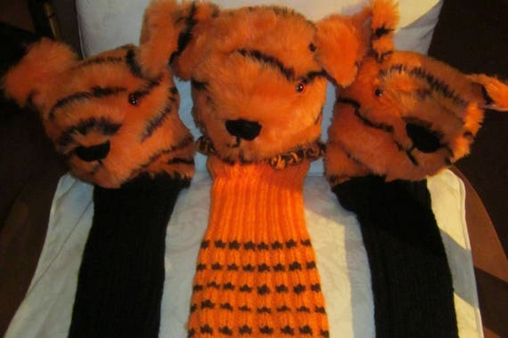 Tiger Head Golf Club Cover Novelty Gifts Golf Club Cover Stocking Fillers Year Round Golfing Presents Unusual Gift for Dad or Mum Golfer's