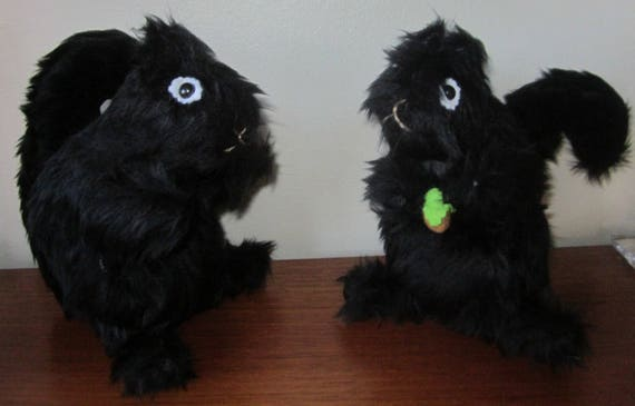 Black Toy Squirrel Black Squirrel Toy Black Plush Squirrel Ornamental Squirrel Fun Adult Present Nursery Ornamental Toy Black Plush Toy Gift