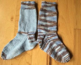 Winter Woods Socks Hand Knit Long Socks Boot Socks