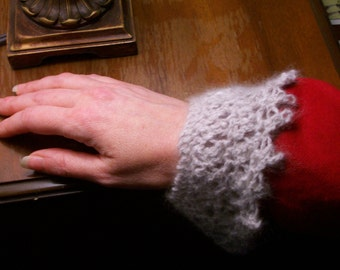 Angora Creole Lace Wristlet or Doll Collar