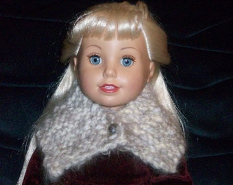 Sale! Angora Cowl for Dolls