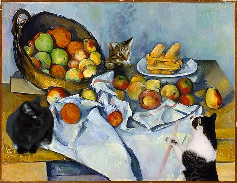 Cat Art Wall Art Print Cat Lover Gift Still Life Cat image 0