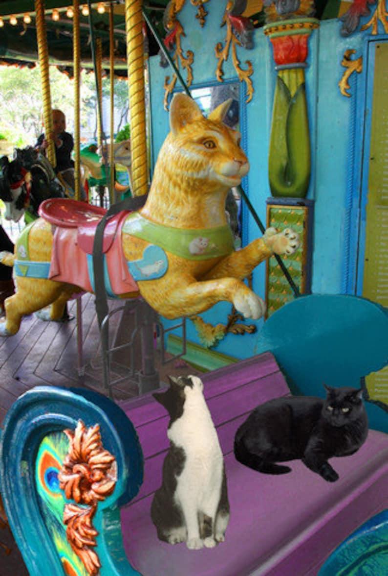 Cat Art Print Cat Lover Gift New York City  Housewarming image 0