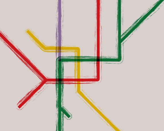 Milan Metro Map Poster 20x16 Etsy
